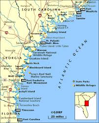 Georgia Travel Info images Map of the lowcountry map of low country sc and ga low country gif