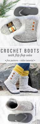 s ugg like boots how to crochet boots with flip flops free pattern tutorial