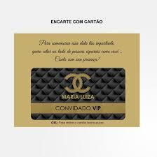 lade luxo bolsinha luxo chanel convite cart磽o personnalit礬 ateli礫 elo7