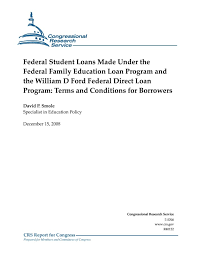 william d ford federal direct loan program federal loans made the federal family education loan