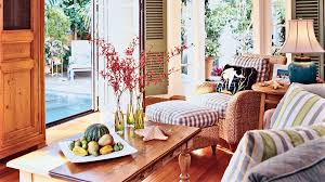 key west living room with blended furnishings key west inviting florida homes coastal living