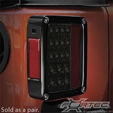 Jeep Jk Tail Light Covers Lights Recon Rec 264234bk Recon Led Tail Light Kit For 07 17