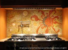 beautiful mosaic back splash artist tricia boucha mended pieces