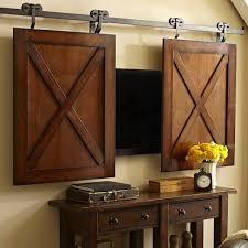 Decorative Flat Screen Tv Covers 22 Modern Ideas To Hide Tvs Behind Hinged Or Sliding Doors Hide