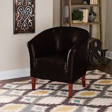 Gordon Tufted Chair Home Decorators Collection Gordon Brown Leather Arm Chair