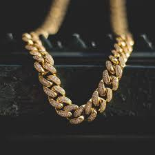 10mm diamond diamond cuban link necklace 10mm in yellow gold the gld shop