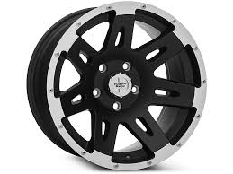 rugged ridge wrangler xhd black w machined lip wheel 17x9