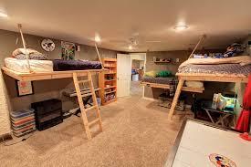 rustic kids bedroom with ceiling fan u0026 carpet in denver co