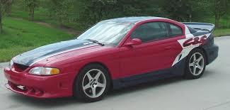 Black Red Mustang 1995 Mustang Gt
