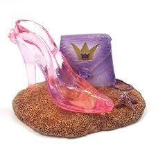 aquarium fish tank ornament princess high heel glass slipper shoe