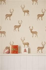 i wallpaper wooden stag wallpaper neutral beige