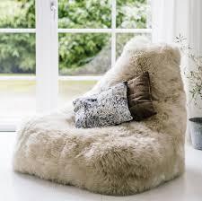 sheepskin beanbag chair three colours