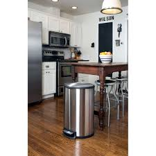 Tall Trash Can by Itouchless 13 Gallon Touchless Motion Stainless Steel Trash Can