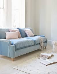 light blue sofa bed pavlova sofa blue velvet pastel pink and cosy