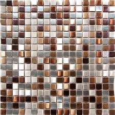 1sf stainless steel metal gold silver copper mosaic tile kitchen