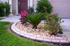 Gravel Landscaping Ideas Stones Edging And Gravel Landscaping Ideas Flower Beds
