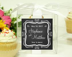 8 personalized cupcake boxes chevron design any color