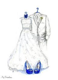 personal wedding dress sketch anniversary gift wedding gift