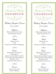 menu template wedding wedding menu template 5 free printable menu cards printable menu