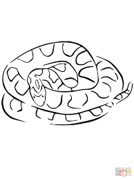 snake coloring pages water snakes page color of a animal realistic