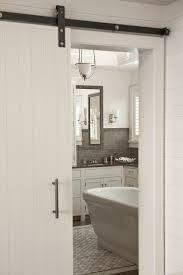 Interior Bathroom Doors by Barn Door Bathroom Sliding Bathroom Door Gray Toned Antique Wood