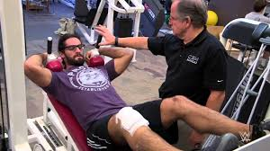 seth rollins begins physical therapy on his knee wwecom exclusive