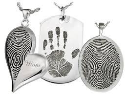 memorial pendants fingerprint cremation jewelry and thumbprint memorial jewelry
