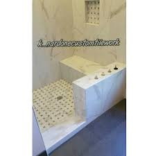 X  Versailles Chateaux Ivoire On Vertical Running Bond With - Bathroom tile work 2
