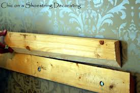 Diy Headboard Upholstered Chic On A Shoestring Decorating How To Make An Upholstered Headboard