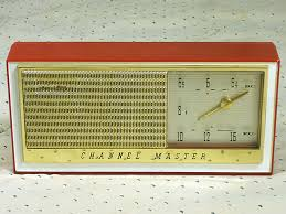 radios channel master 6515 red 1960