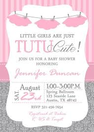 tutu baby shower theme tutu baby shower invitation girl baby shower invitations
