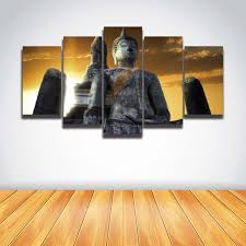printed buddha picture poster canvas painting modern wall art
