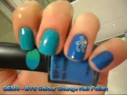 demo bys colour change nail polish youtube youtube