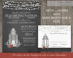 lantern wedding invitations silver lantern wedding invitations set rustic wedding