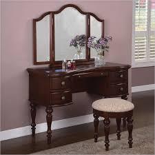 Antique Vanity With Mirror And Bench - makeup vanity powell furniture marquis cherry wood makeup vanity