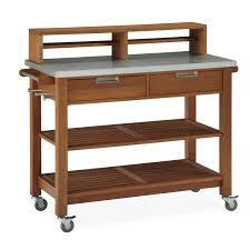 bali hai natural teak potting bench home styles furniture carts
