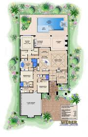 single level house plans house plan 1 story coastal style home floor plan
