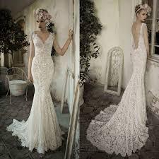 custom wedding dresses white ivory open back lace wedding dress custom size 2 4 6 8 10 12