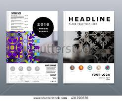 Brochures And Business Cards Abstract Background Geometric Shapes Frames Presentation Stock