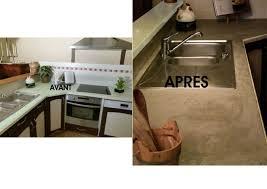refaire plan de travail cuisine carrelage béton ciré sur plan de travail carrelé ordinaire beton cire sur