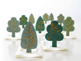forest pop up tree cards