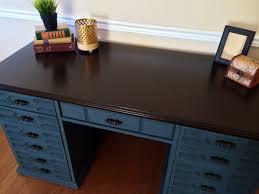 Chalk Paint Desk by Vintage Bassett Desk Midnight Ocean Blue Shabby Roots Boutique