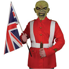 iron maiden the trooper men u0027s halloween costume costume rockabilia