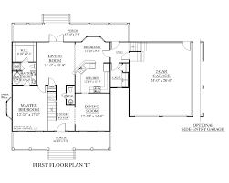 One Story House Plans With Basement by 100 Unique House Plans One Story 3 Bedroom Flat Plan View