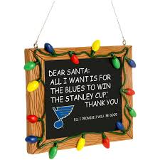st louis blues chalkboard sign ornament