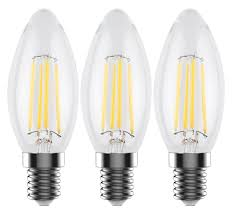 c35 e12 led filament edison style light bulb 4 watt 60w