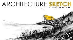 how to draw a landscape fast sketching architecture sketch