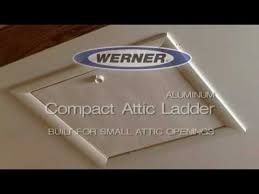 werner compact attic ladder easy to open and close youtube