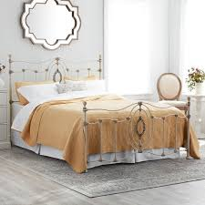 ashdyn queen size metal bed with white finish free shipping