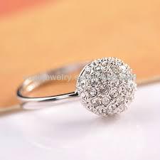 cincin emas putih r531 hot sale unik putaran finger cincin wanita cincin busana